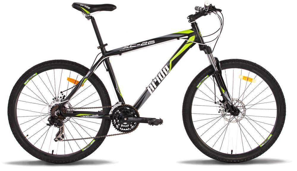 Велосипед 26 PRIDE XC-26 Disk 15 2014 черно-зеленый