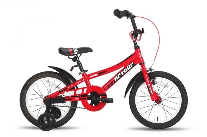 Велосипед 16 PRIDE ARTHUR красно-белый 2015