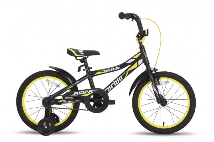 Велосипед 18'' PRIDE RIDER черно-жёлтый 2015