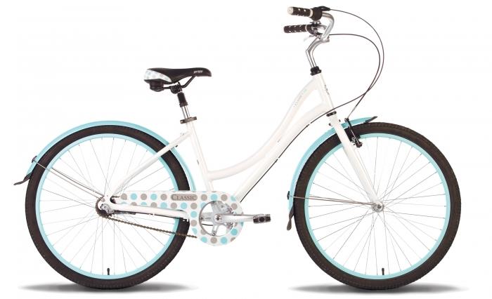 Велосипед 26'' PRIDE CLASSIC 18бело-голубой 2015