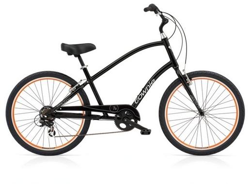 Велосипед 26 Electra Townie Original 7D Men's Black w/orange rims