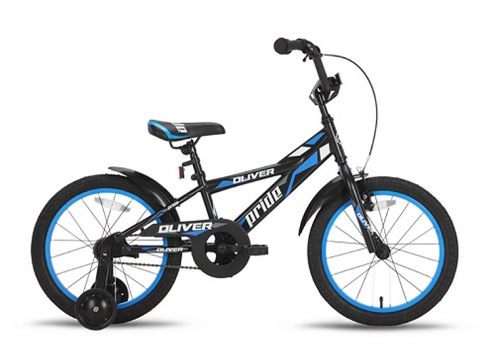 Велосипед 18'' PRIDE OLIVER черно-синий 2015