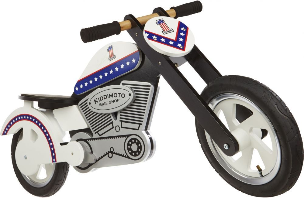Беговел 12 Kiddy Moto Chopper Evel деревянный