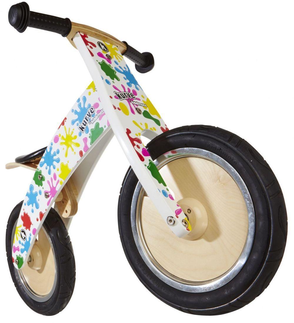 Беговел 12 Kiddy Moto Kurve белый с кляксами