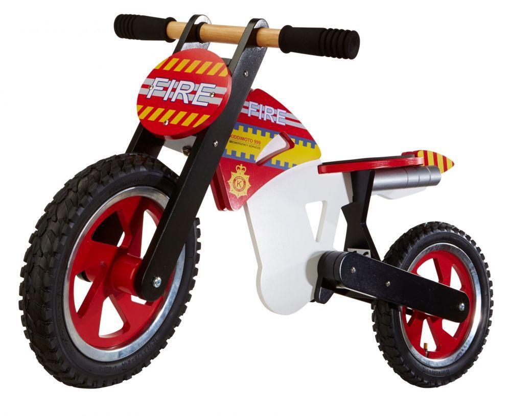 Беговел 12 Kiddy Moto Scrambler пожарная машина