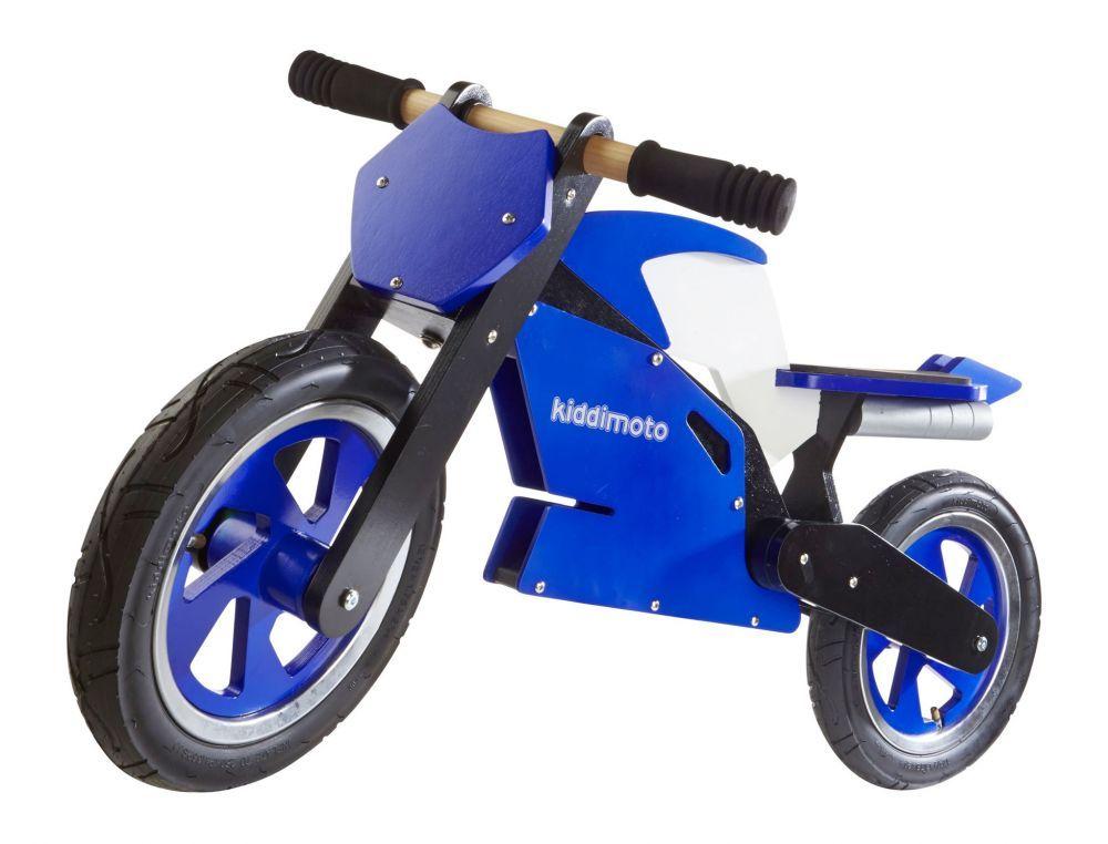 Беговел 12 Kiddimoto Superbike деревянный, сине-белый