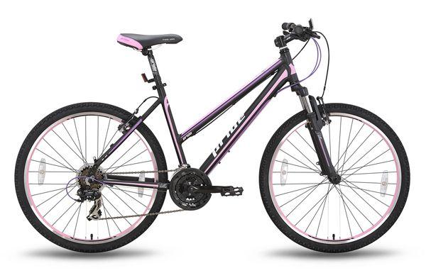 Велосипед 26'' PRIDE STELLA 18 черно-розовый 2015