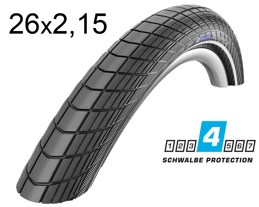 Покрышка 26x2.15 Schwalbe BIG APPLE RaceGuard  55-559 B/B-SK+RT HS430 EC