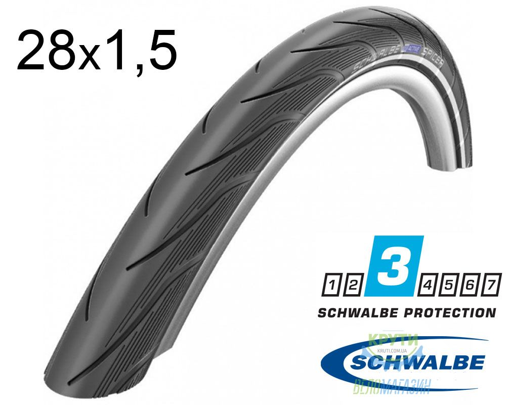 Покрышка 28x1.50 700x38C (40-622) Schwalbe SPICER HS442 K-Guard B/B-SK+RT SBC, 50EPI