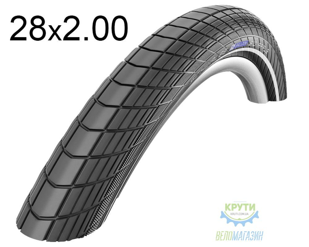 Покрышка 28x2.00 (50-622) Schwalbe BIG APPLE HS430 KevlarGuard B/B+RT SBC 50EPI черная
