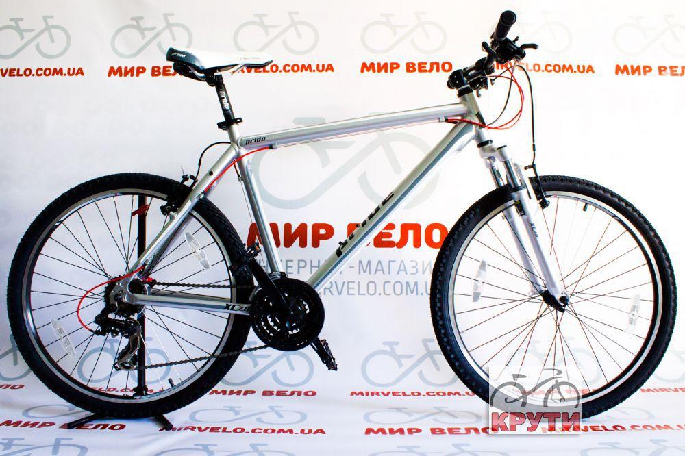 Велосипед 26'' PRIDE XC-2.0 17 серый матовый 2015