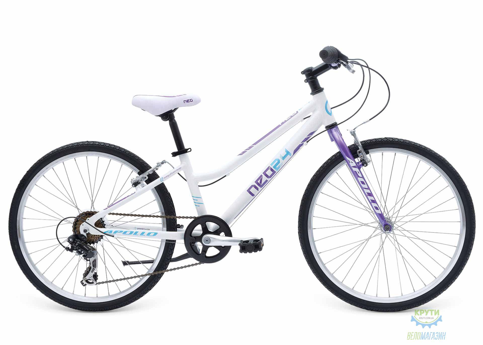 Велосипед 24 APOLLO Neo Girls Geared Gloss White / Gloss Lavender / Gloss Blue 2017