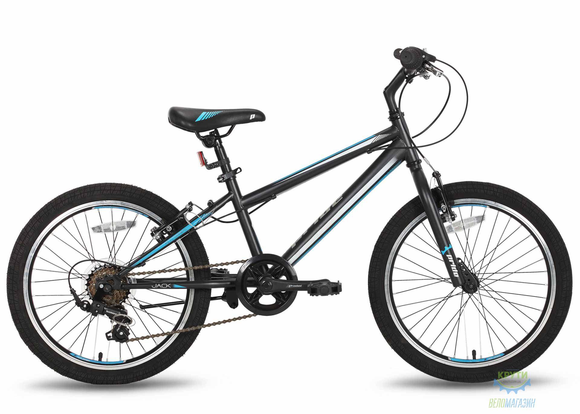 Велосипед 20'' PRIDE JACK 6 черно-синий 2016