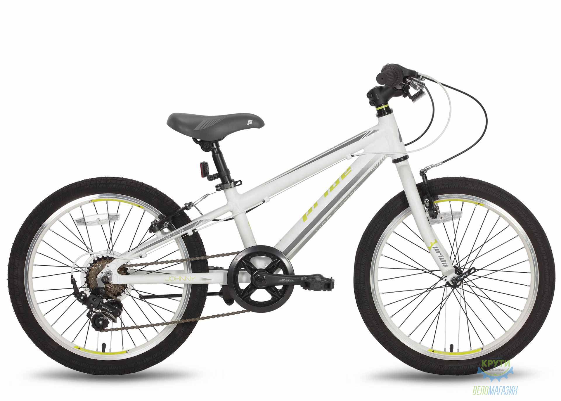 Велосипед 20'' PRIDE JOHNNY бело-зеленый 2016