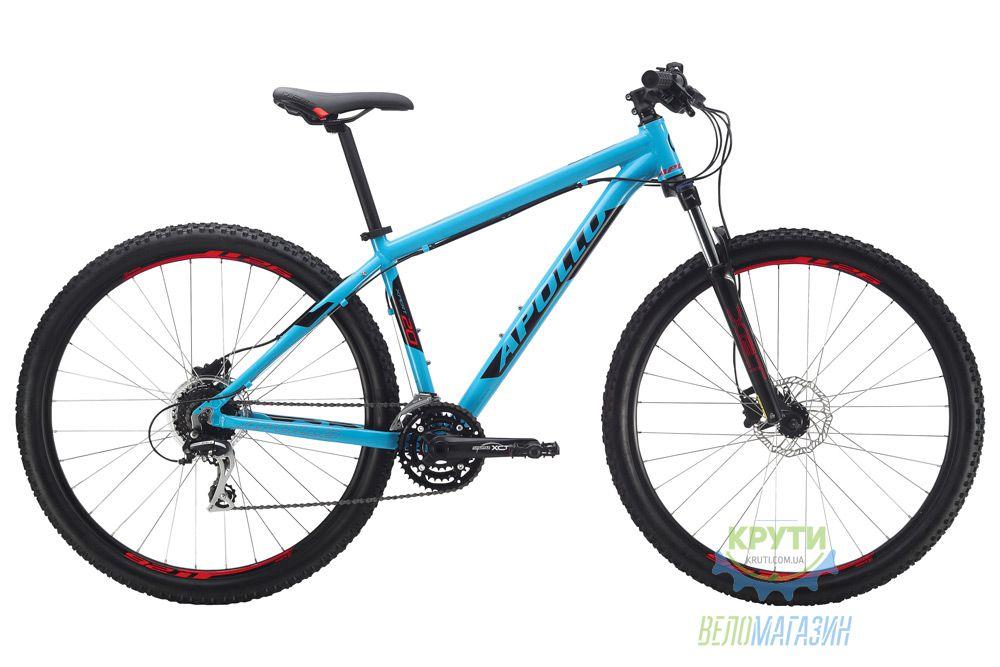 Велосипед 29 Apollo Xpert 20 рама - XL Gloss Blue/Gloss Black/Gloss Red 2017