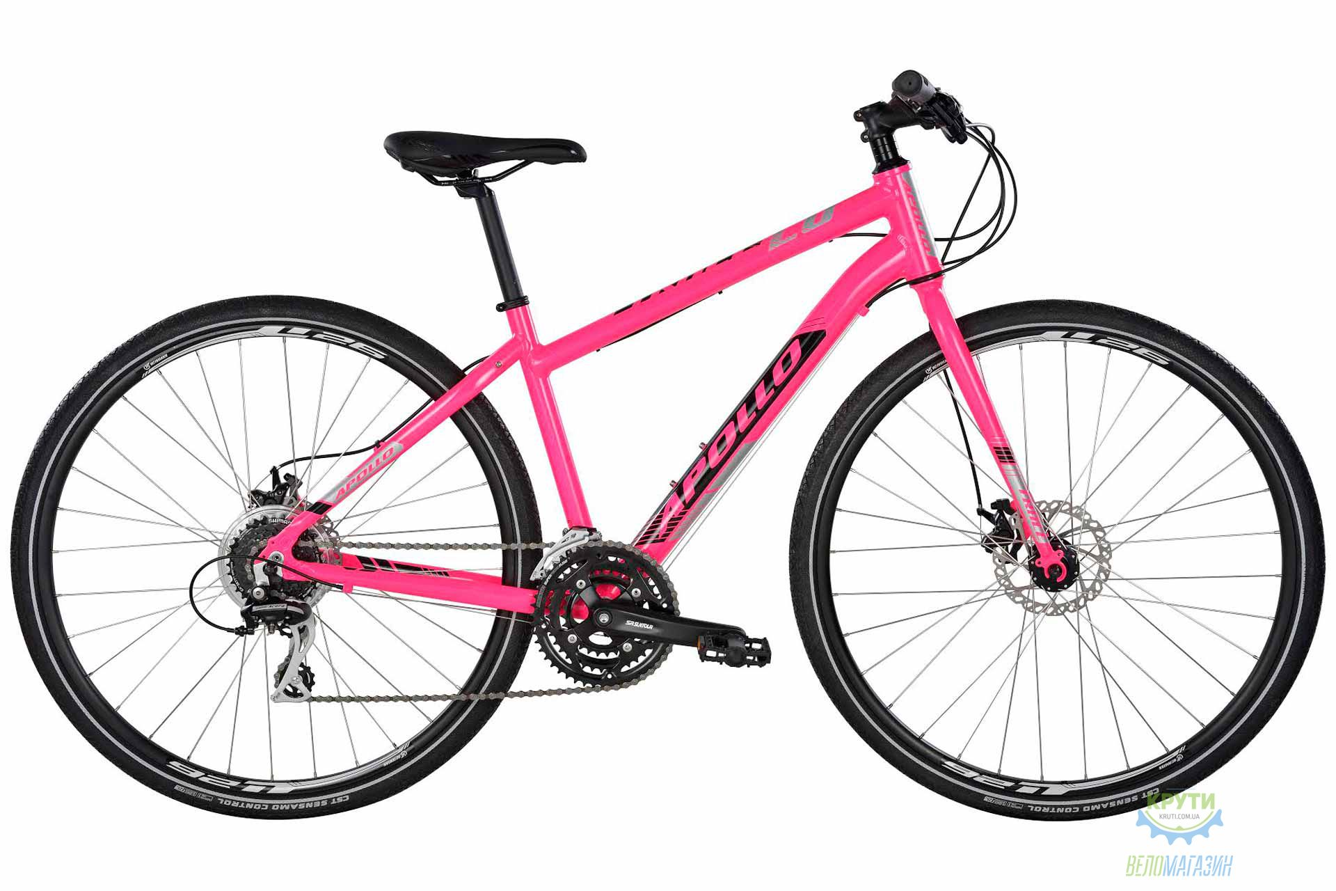 Велосипед 28 Apollo Trace 20 WS HI VIZ рама - M Gloss Pink/Gloss Black/Reflective 2017