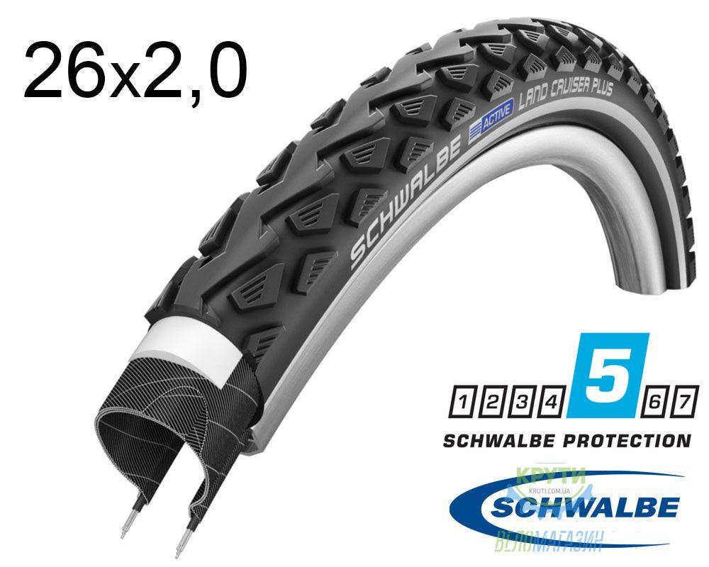 Покрышка 26x2.00 (50x559) Schwalbe LAND CRUISER PLUS PunctureGuard 50-559 B/B+RT HS450 SBC