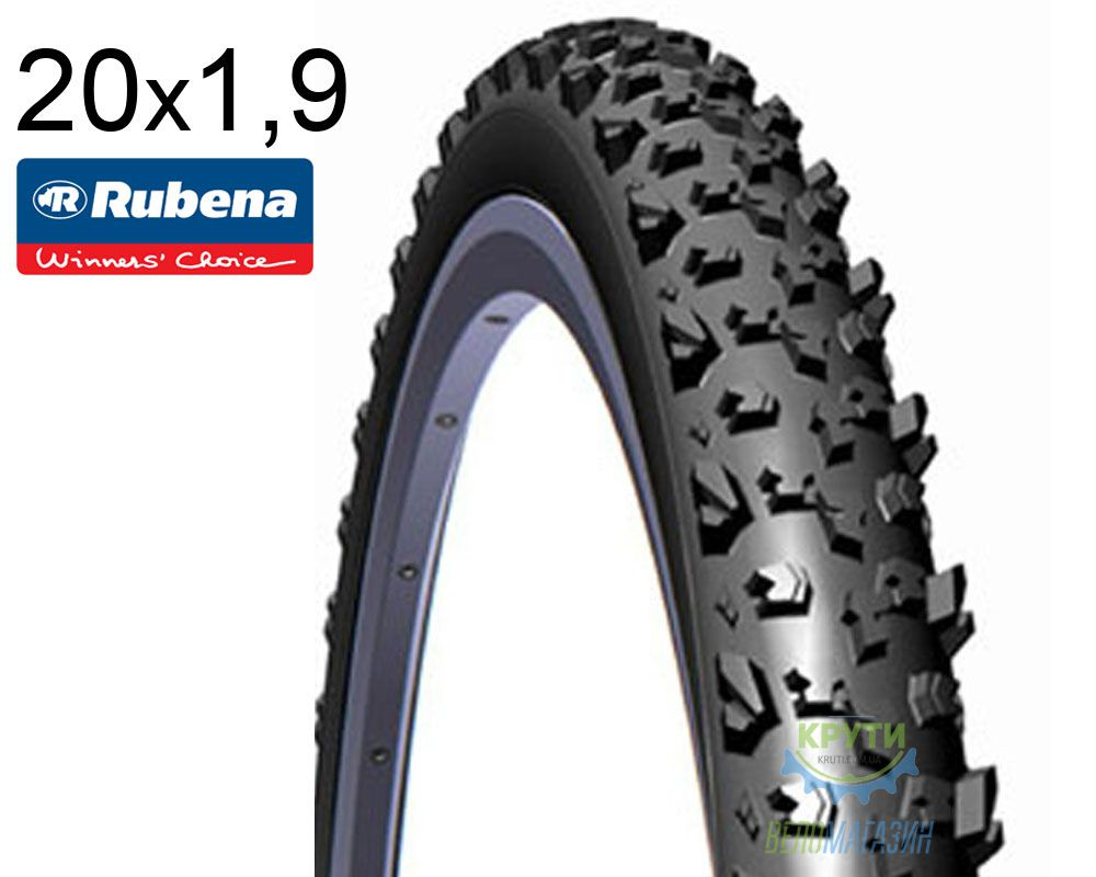 Покрышка 20х1.9 RUBENA NEPTUNE V78 Classic черн.