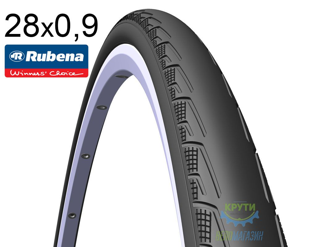 Покрышка 700 x23C RUBENA SYRINX V80 (23-622) Classic черн.