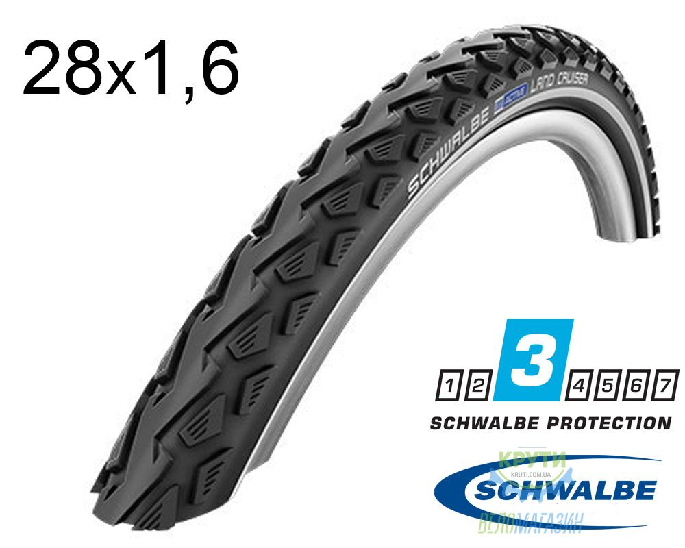 Покрышка 28x1.60-700x40C (42-622) Schwalbe LAND CRUISER K-Guard B/B+RT HS450 SBC 50EPI