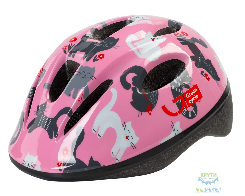 Шлем детский Green Cycle Kitty размер 50-54см розовый
