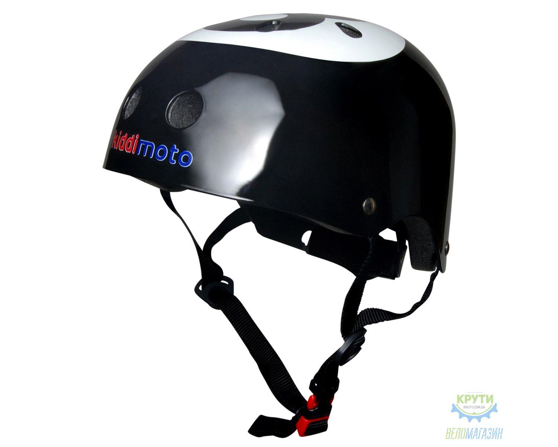 Шлем детский Kiddimoto бильярдный шар, чёрный, размер S 48-53см