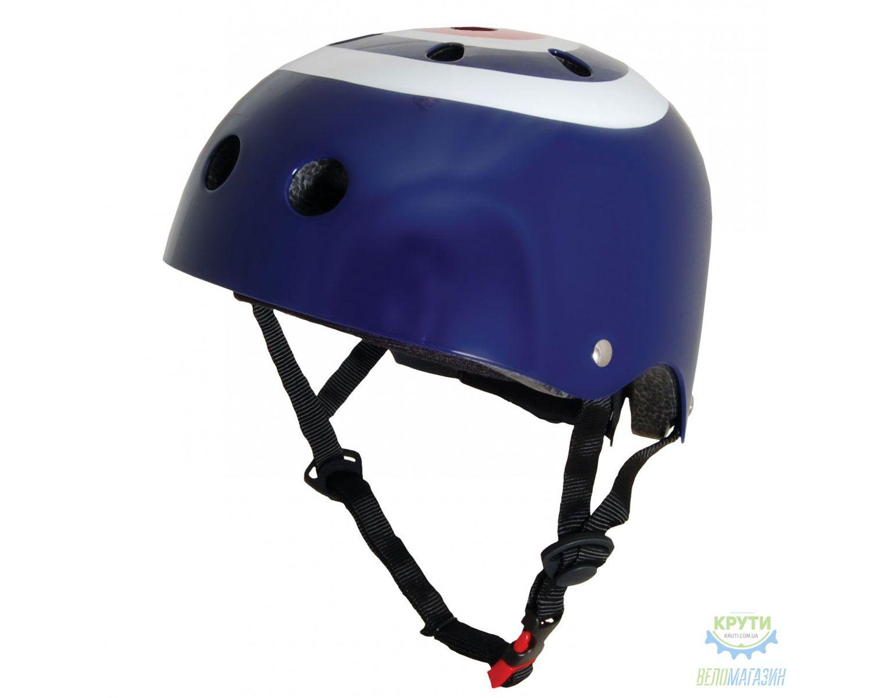 Шлем детский Kiddimoto синяя мишень, размер S 48-53см