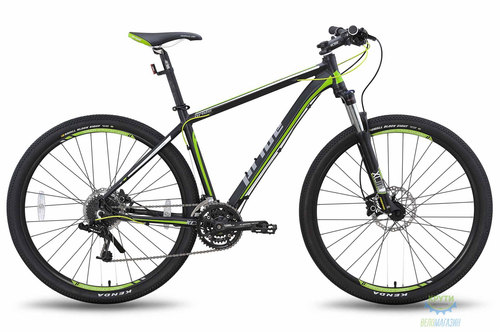 Велосипед 29; PRIDE XC-29 HD черно-зеленый матовый 2015
