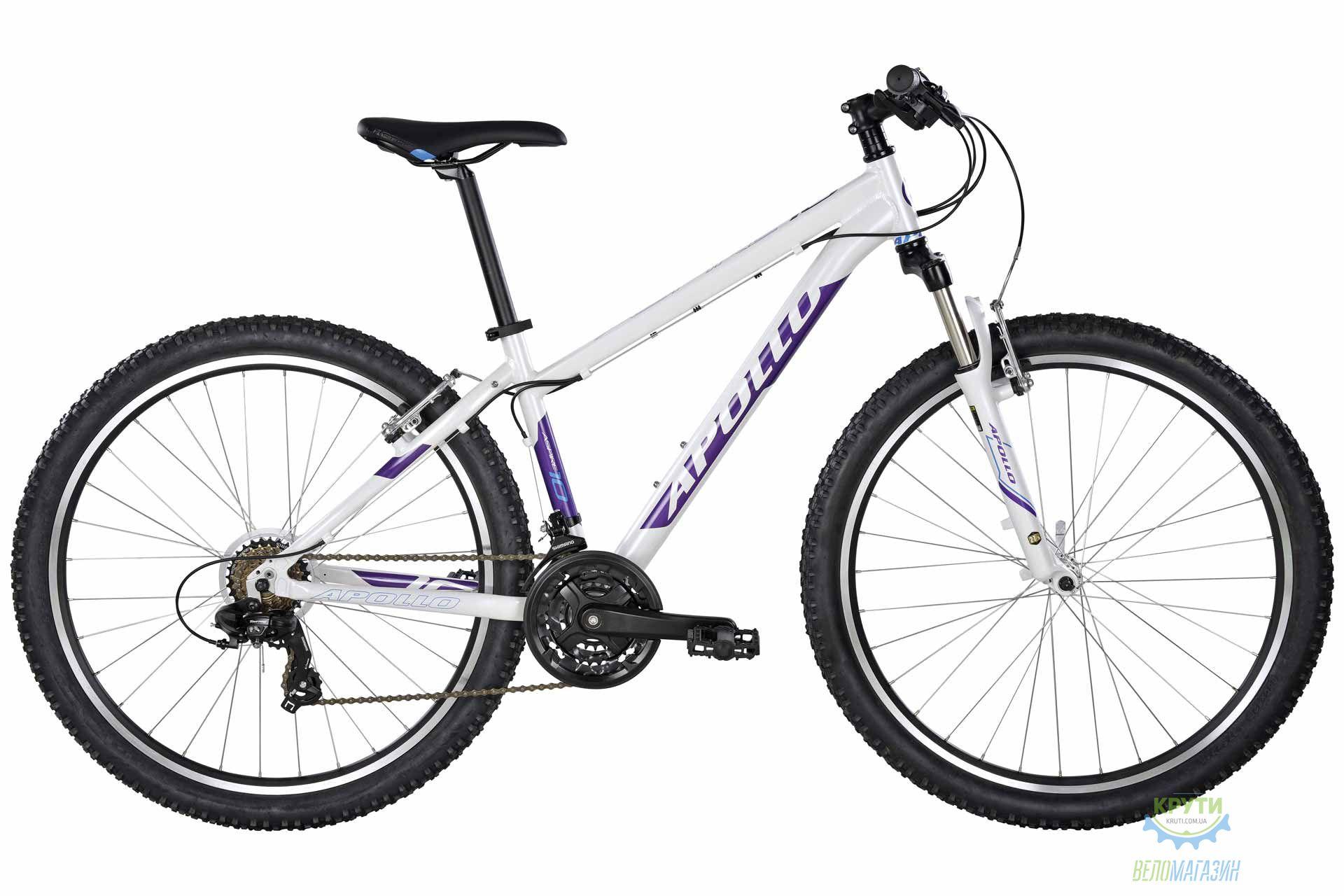 "Велосипед 27,5"" Apollo ASPIRE 10 17"" WS 2017 Gloss White/Gloss Purple/Gloss Blue"