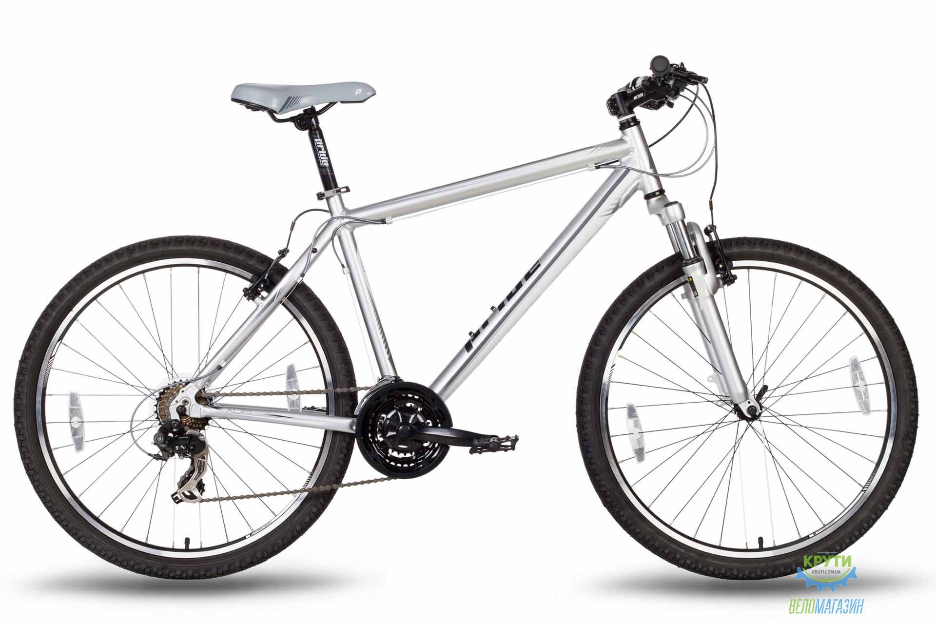 Велосипед 26'' PRIDE XC-2.0 - 21 серо-черный матовый 2016