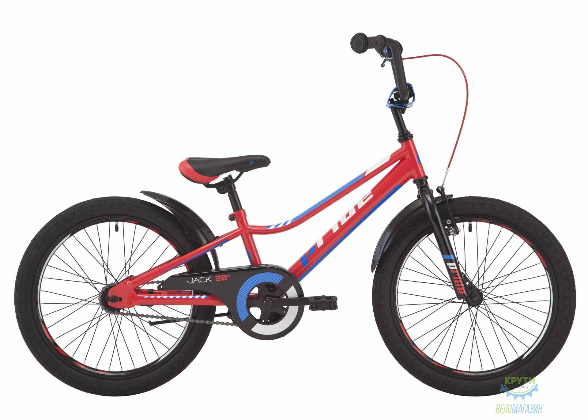 Велосипед 20 Pride Jack красный/белый/синий 2018