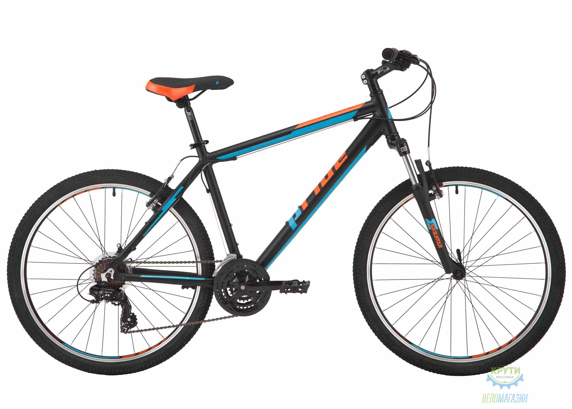 Велосипед 26 Pride Marvel 1.0 рама - 17 черный/голубой/оранжевый 2017