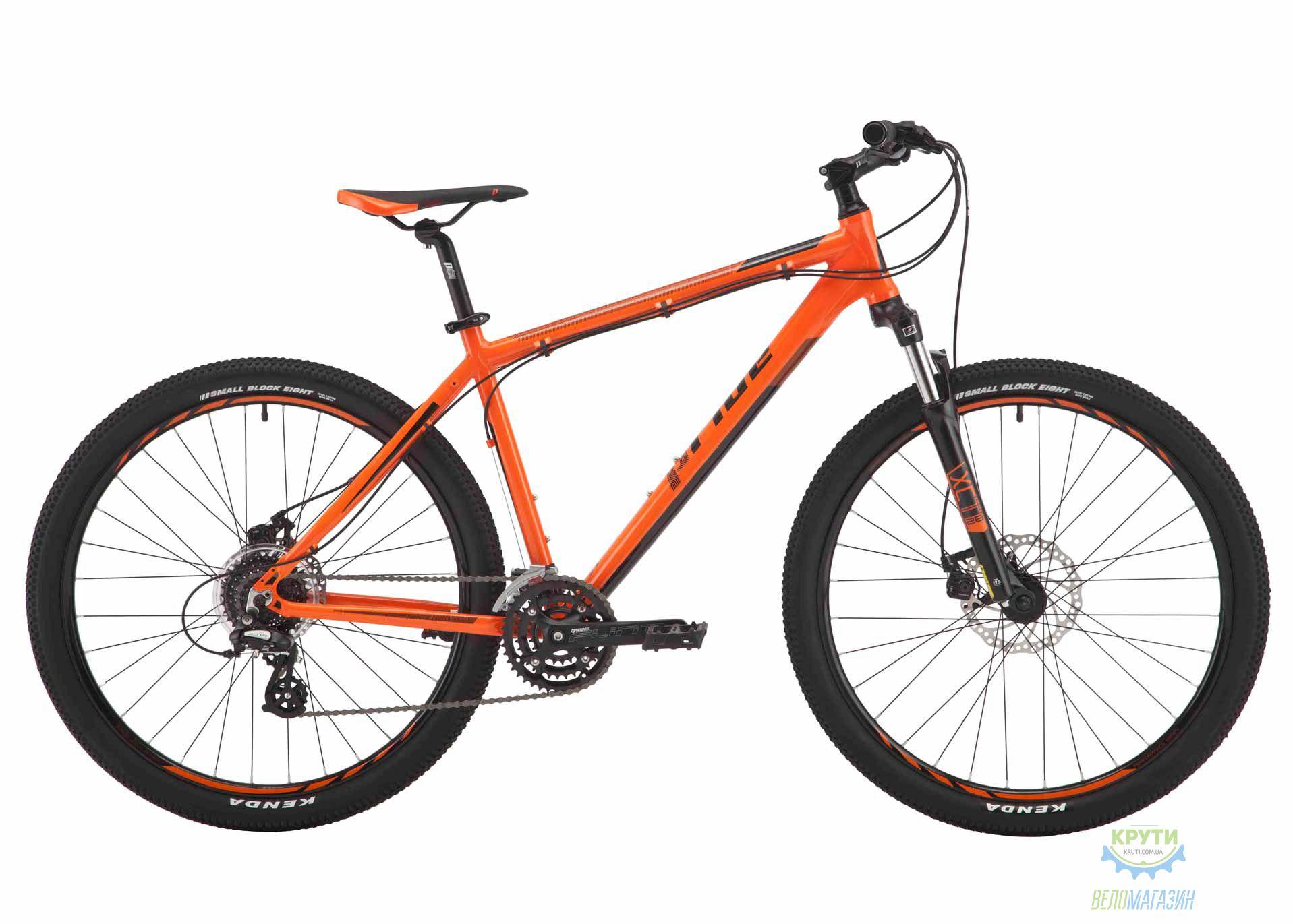 Велосипед 27,5 Pride Rebel 7.2 рама - 19 оранжевый/тёмно-красный/черный 2017