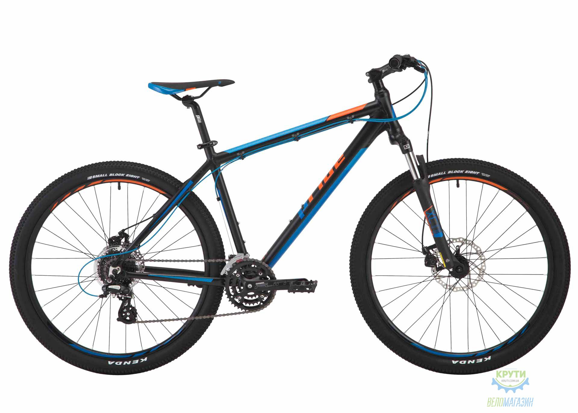 Велосипед 27,5&quot Pride Rebel 7.2 рама - 21 черный/голубой/оранжевый 2017