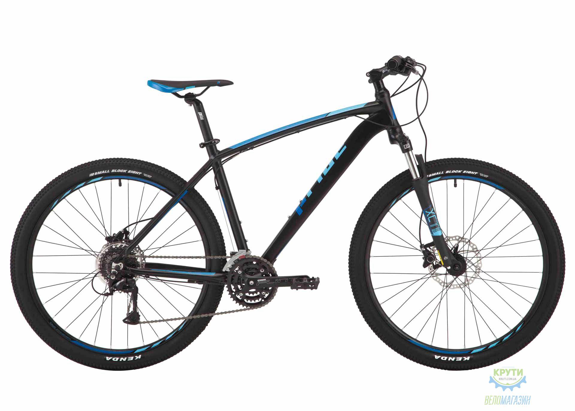 Велосипед 27,5 Pride Rebel 7.3 рама - 21 черный/голубой/красный 2017