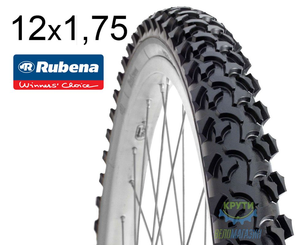 Покрышка 12 1/2х1.75х2 1/4 (47x203) MITAS (RUBENA) RAPID V36 Pre Classic черная