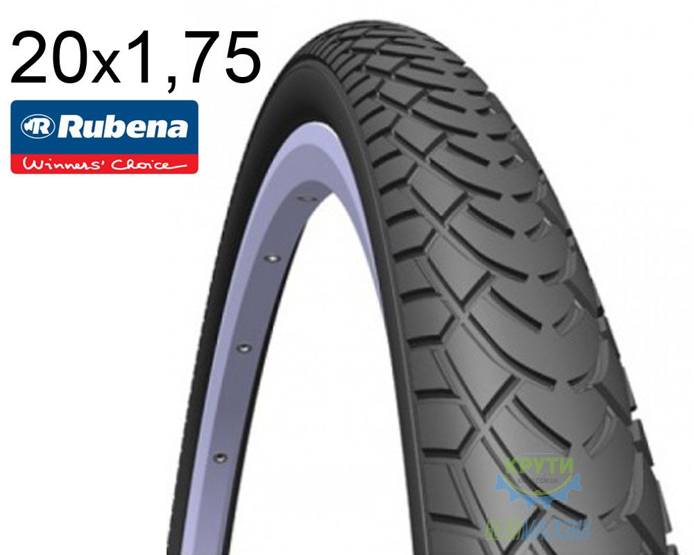 Покрышка 20x1.75*2 (47x406) MITAS (RUBENA) WALRUS V41 Classic черная