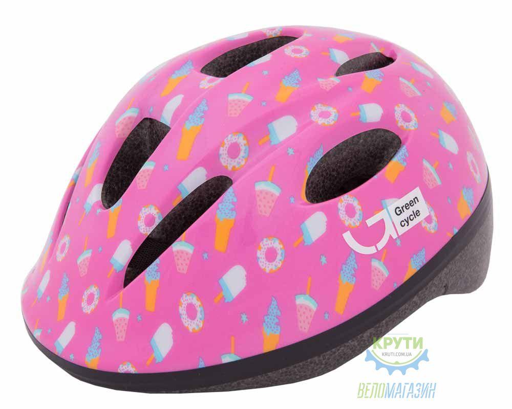 Шлем детский Green Cycle Sweet размер 50-54см малиновый/розовый лак
