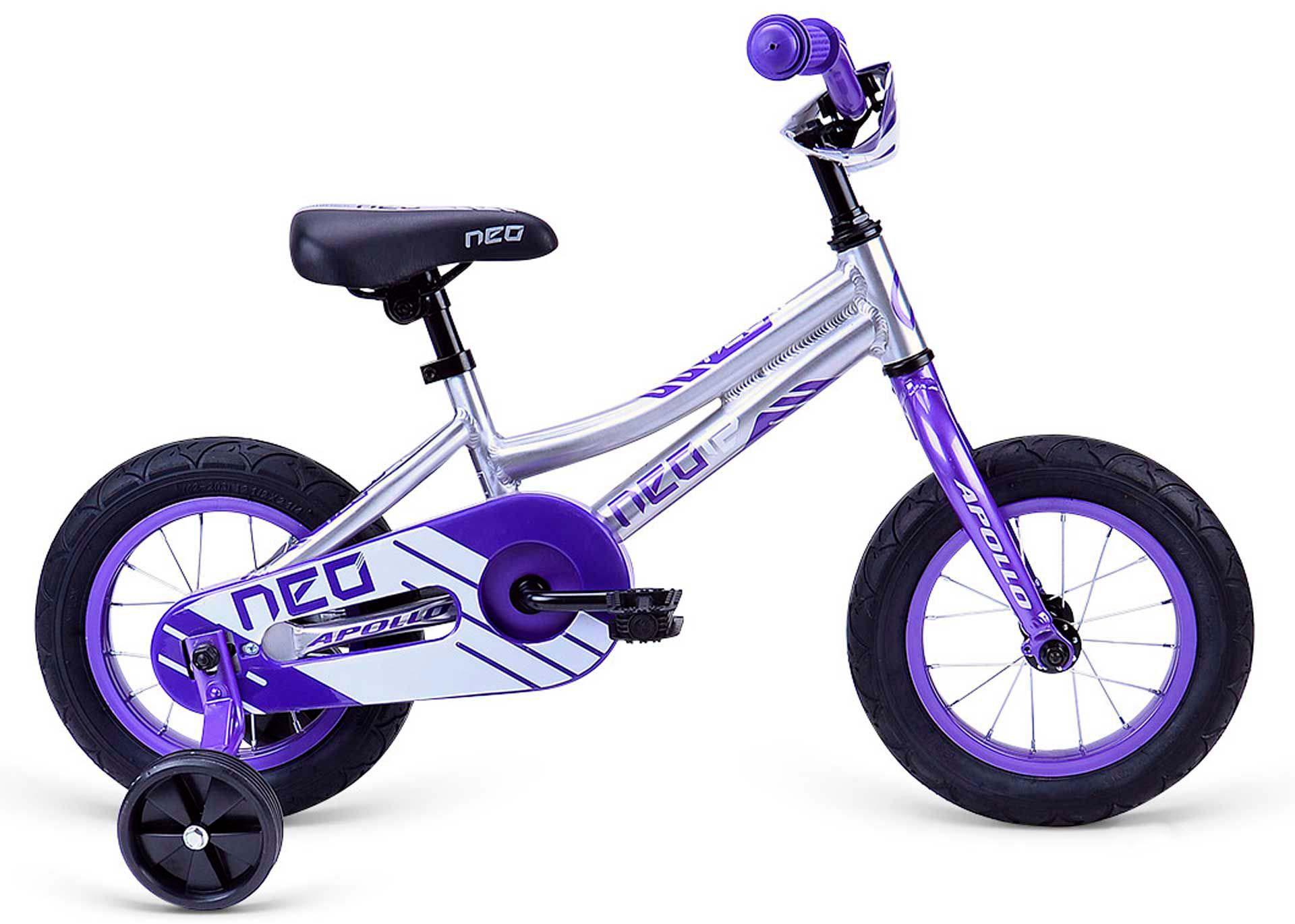 Велосипед 12 Apollo Neo girls фиолетовый/белый 2020