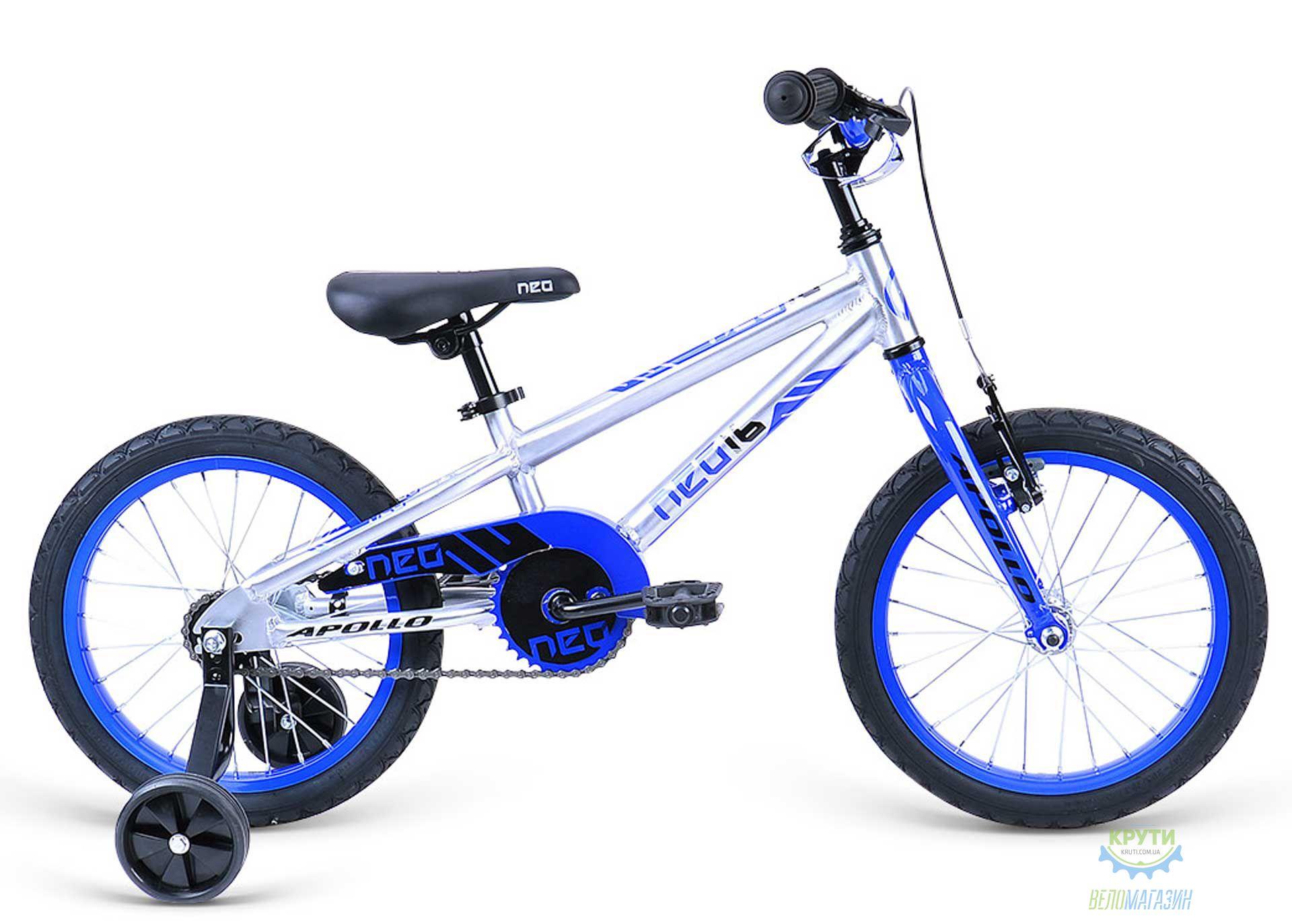 Велосипед 16 Apollo Neo boys синий/черный 2020