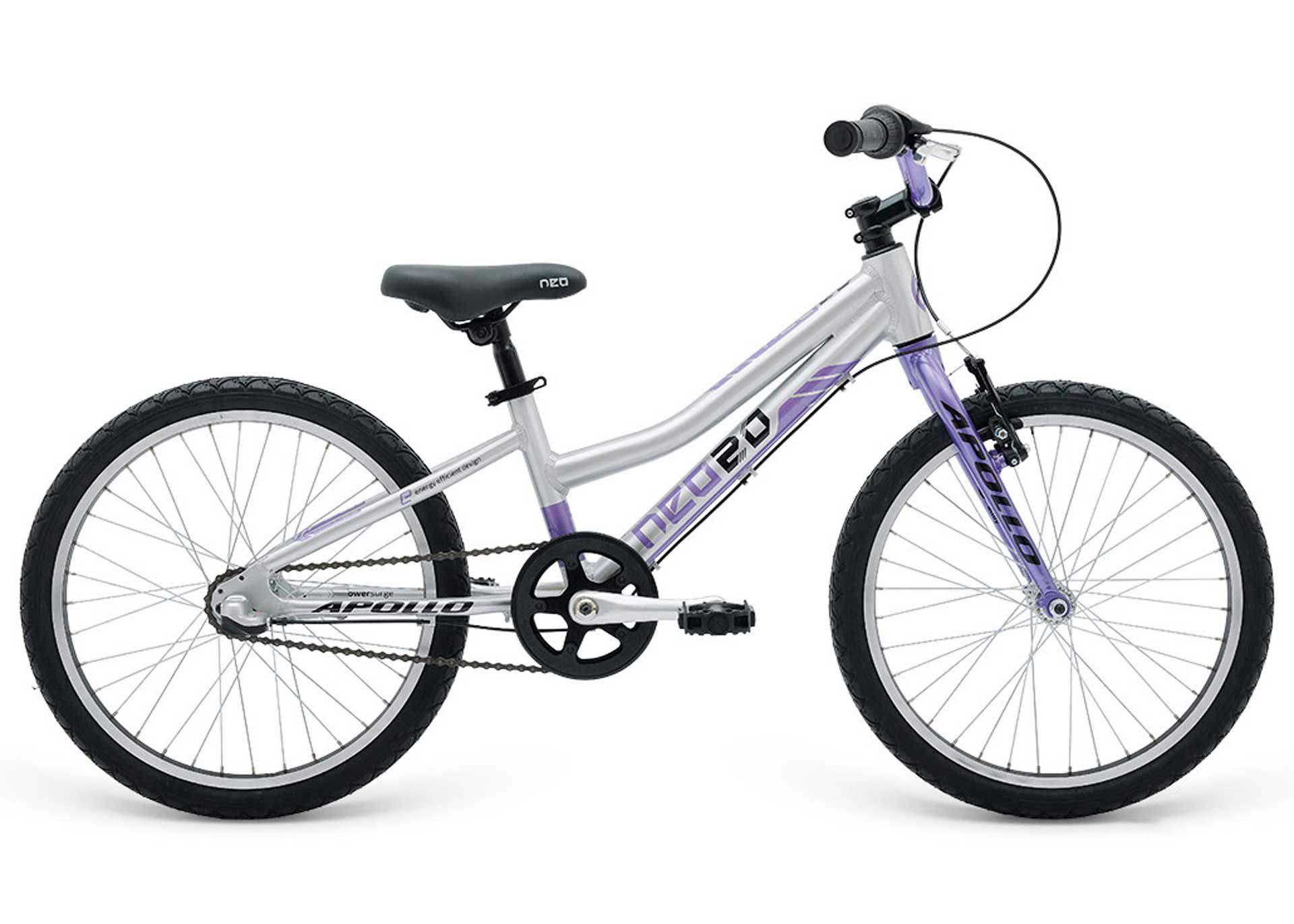 Велосипед 20 Apollo Neo 3i girls фиолетовый/черный 2019