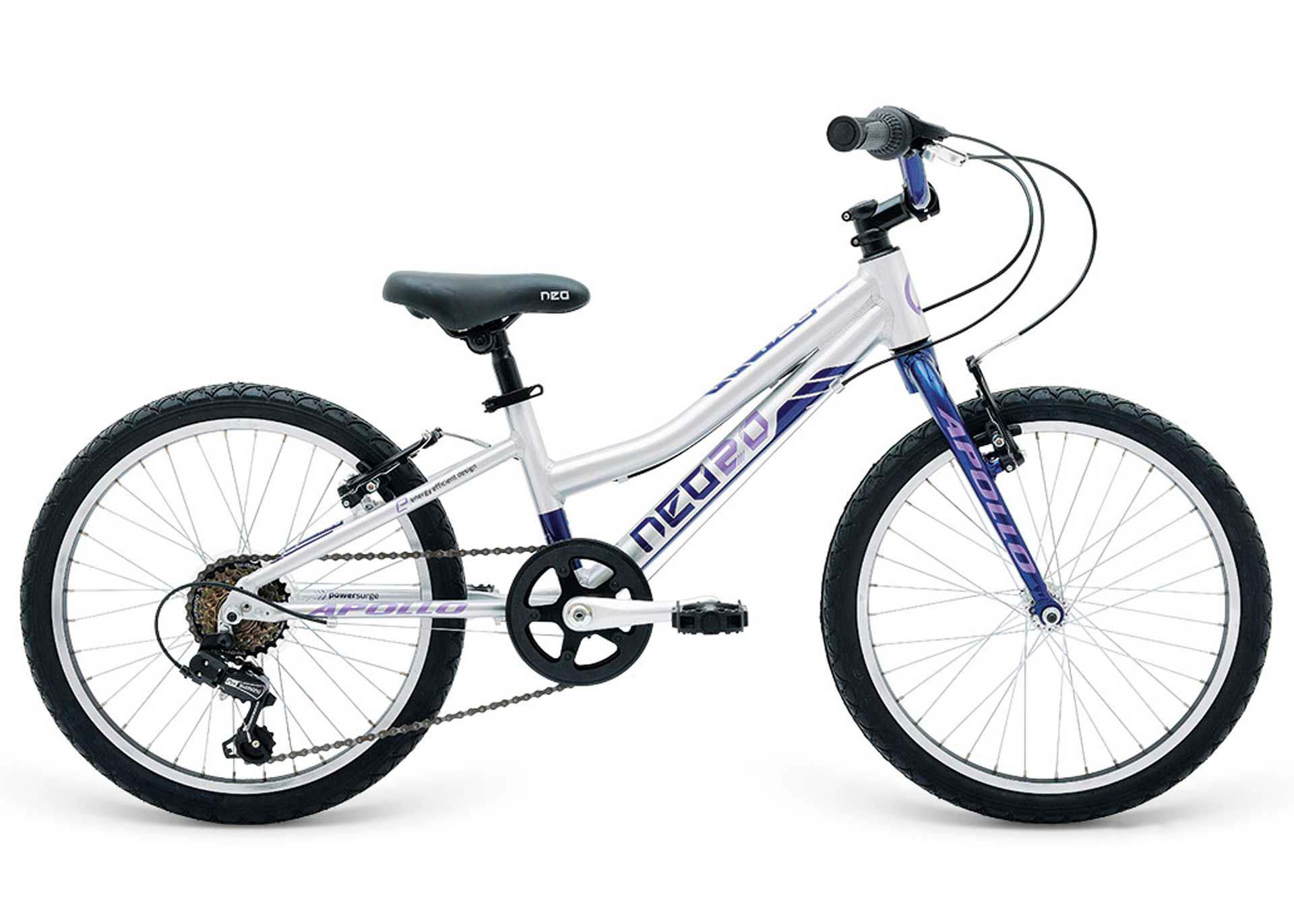 Велосипед 20 Apollo Neo 6s girls синий/сиреневый 2018