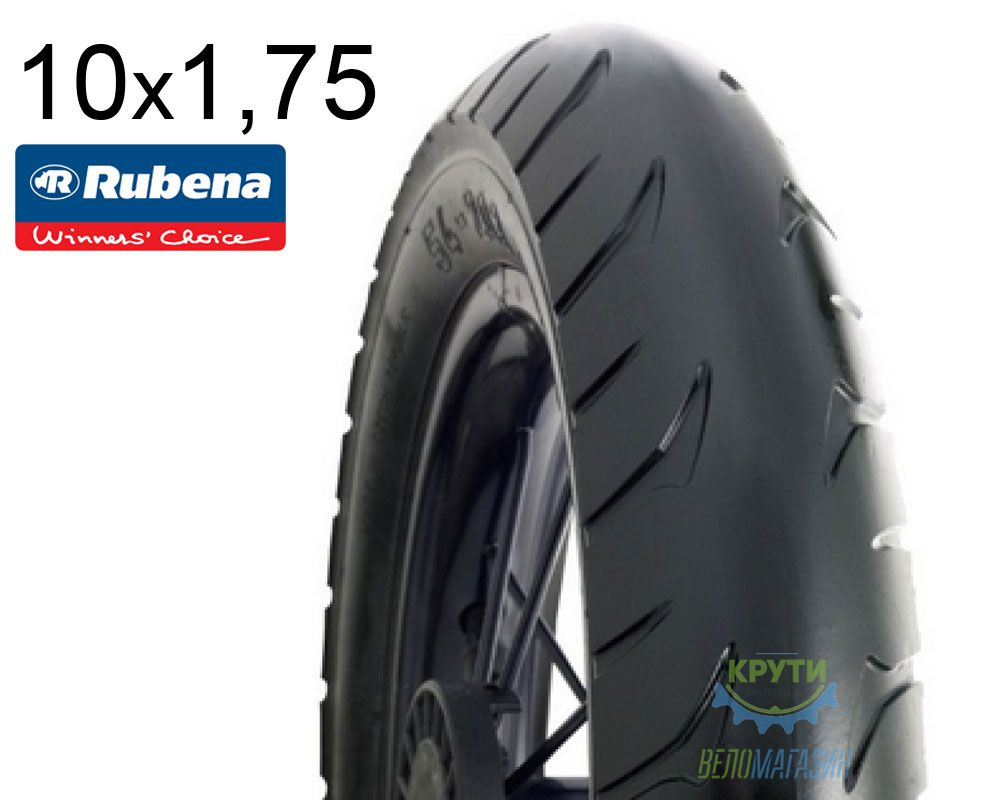 Покрышка 10 x 1.75*2 (47x152) MITAS (RUBENA) GOLF V63 Pre Classic черн.