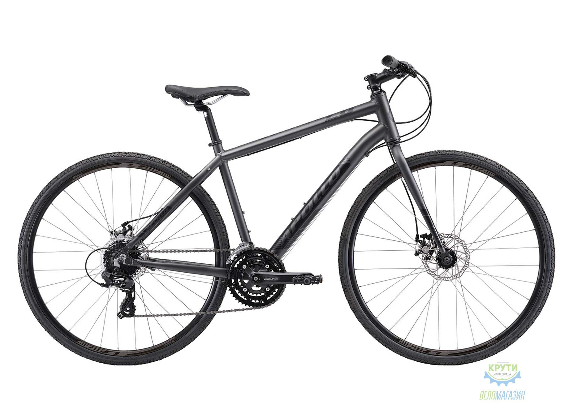 Велосипед 28 Apollo TRACE 20 рама - XL matte charcoal/matte black 2018