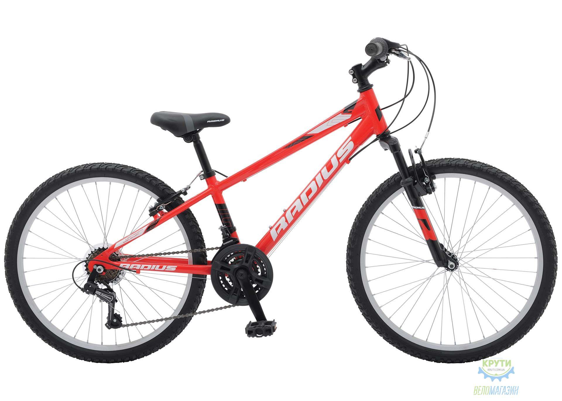 Велосипед 24 Radius Axis AL рама- 13 Gloss Red/Gloss White/Gloss Black