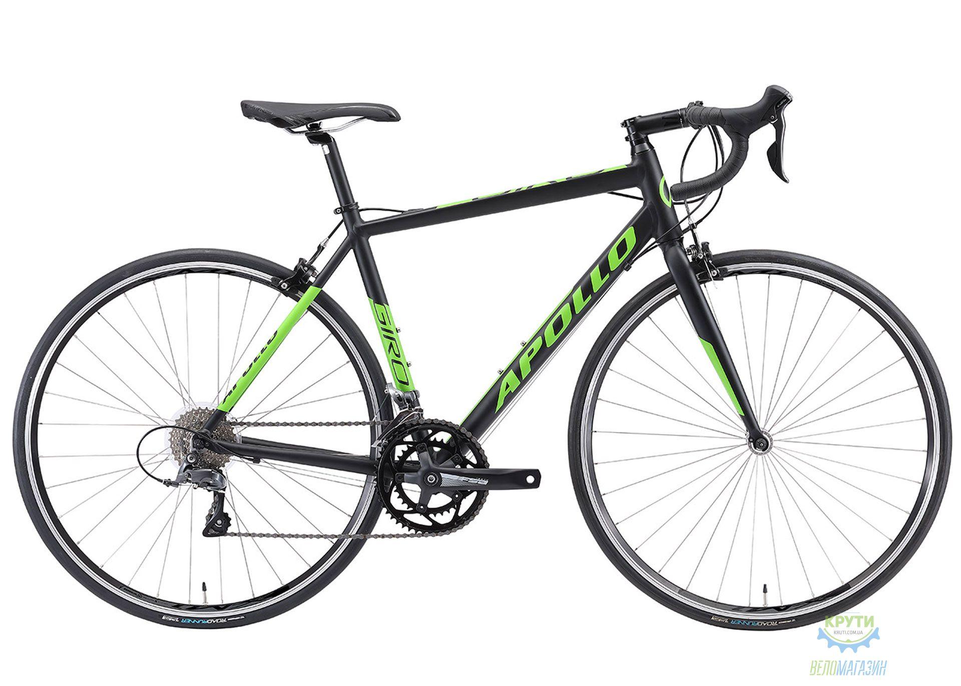 Велосипед 28 Apollo GIRO 10 рама - M matte black/matte green