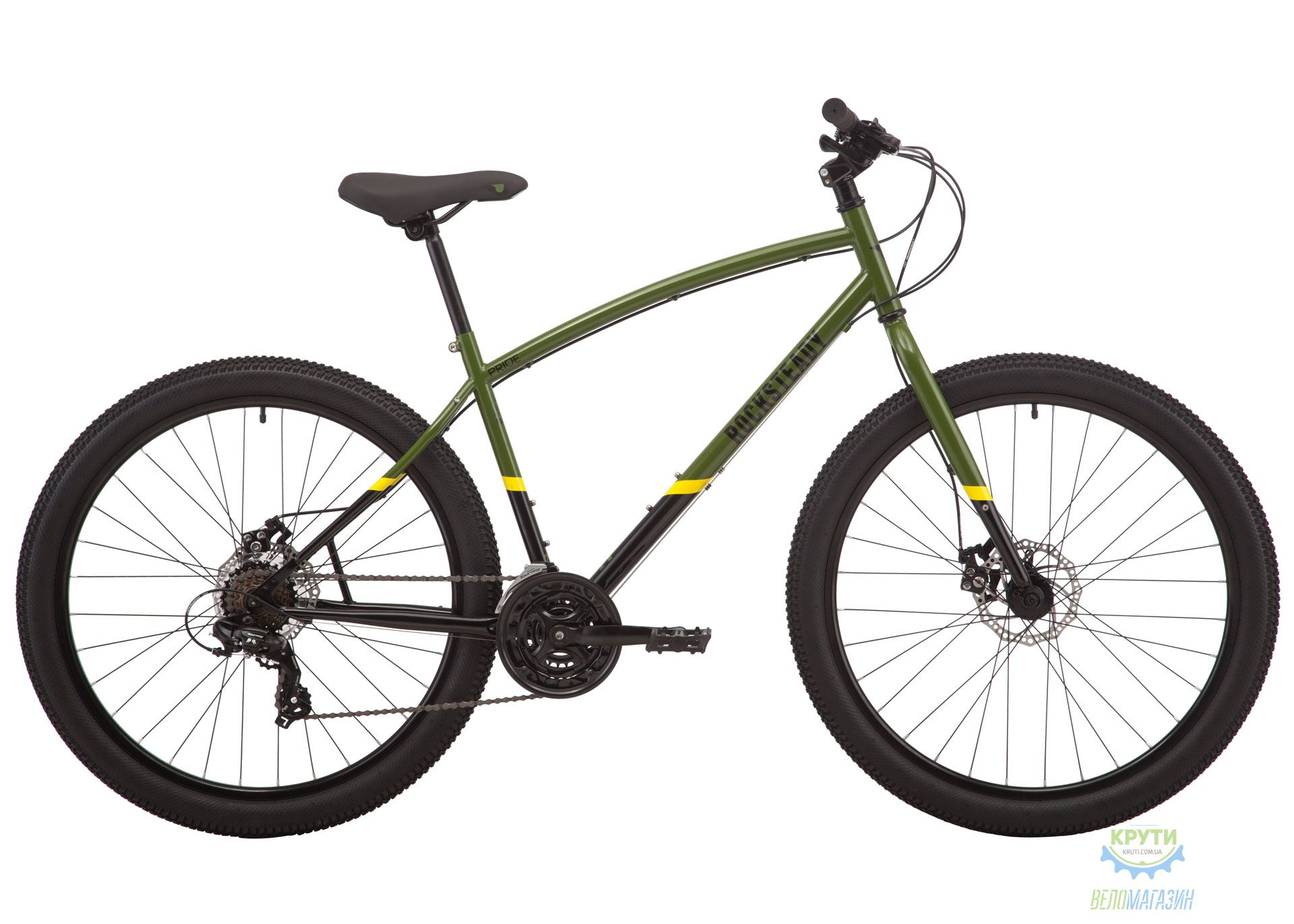 Велосипед 27,5 Pride ROCKSTEADY 7.1 рама - X хаки/черный 2019