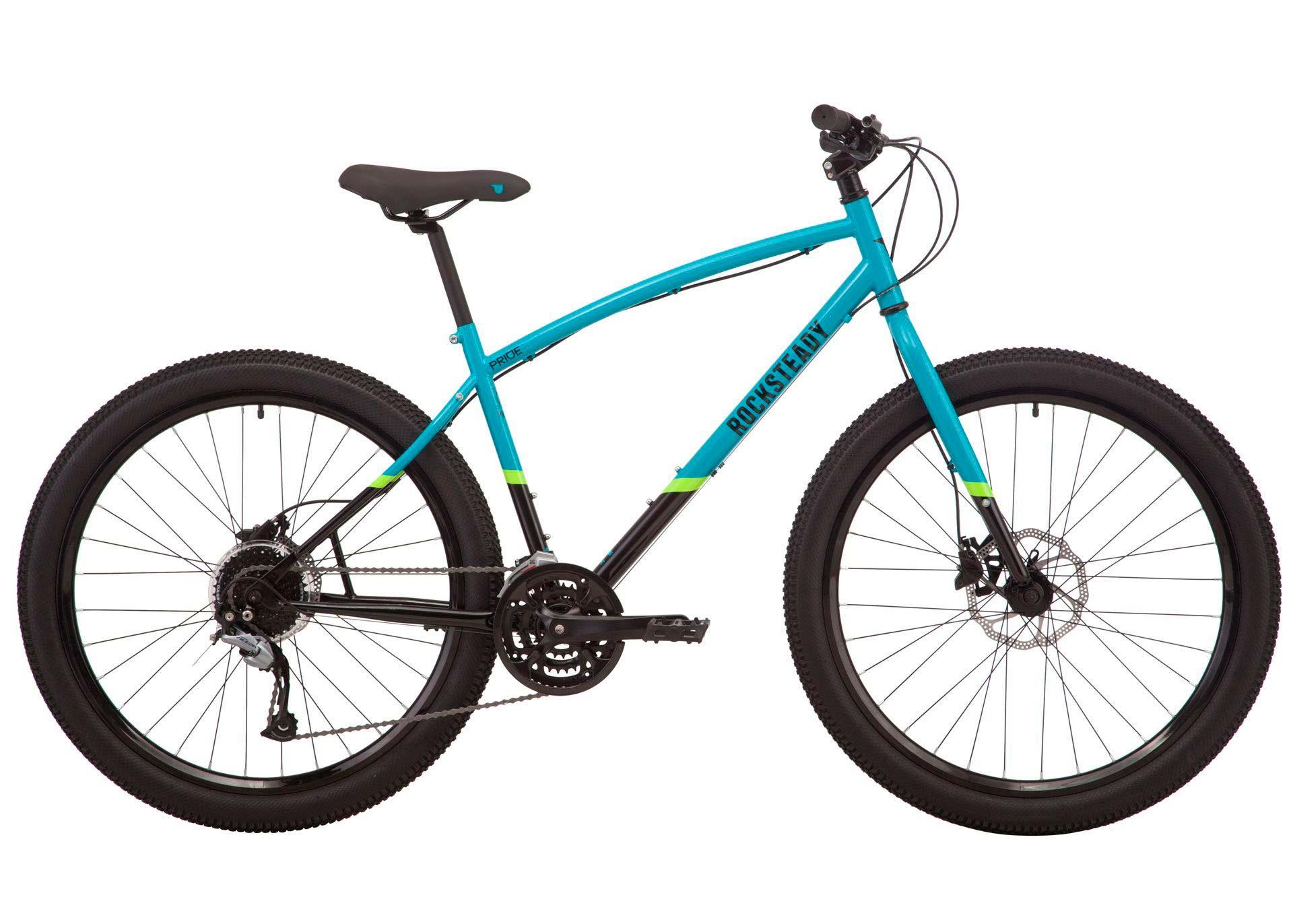 Велосипед 27,5 Pride ROCKSTEADY 7.2 рама - M голубой/черный 2019