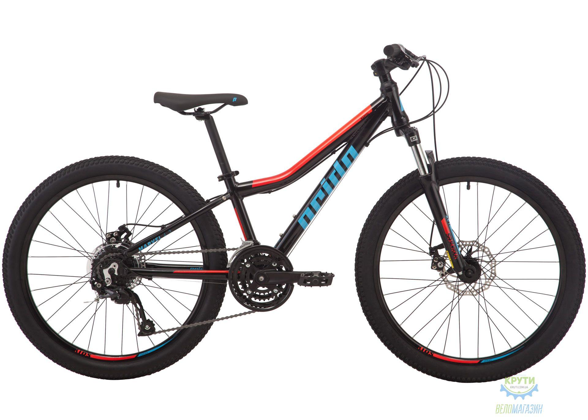 Велосипед 24 Pride MARVEL 4.3 черный 2019