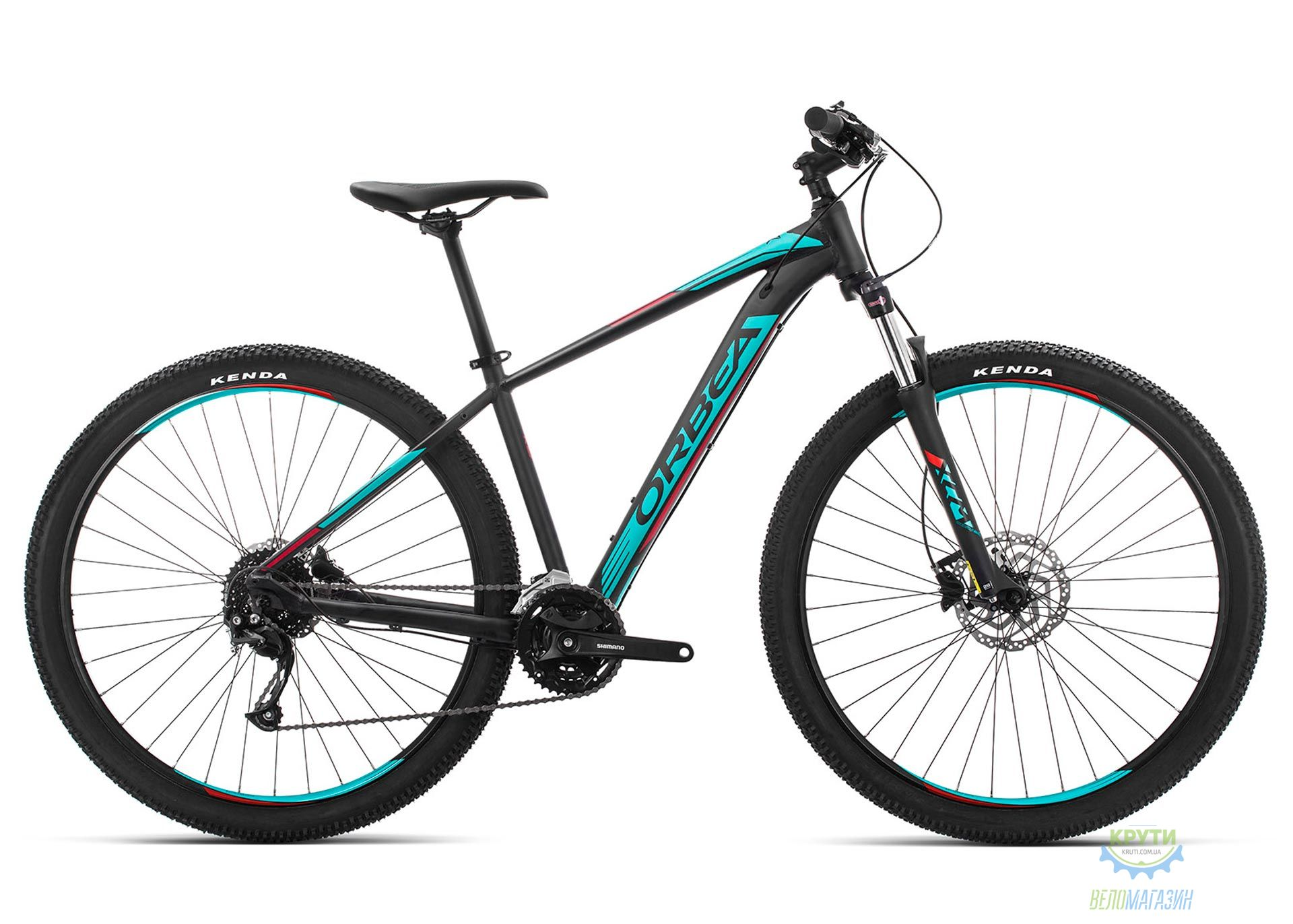 Велосипед Orbea MX 29 40 L Black - Turquoise - Red 2019